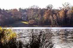 English autumn in Virginia Water, United Kingdom Stock Images