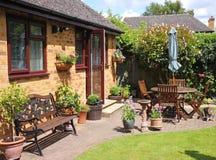 An English Back garden Stock Photo