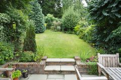 English back garden royalty free stock images