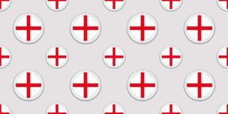 English background. England flag seamless pattern. Vector round icons. Geometric circle symbols. Texture for language courses, spo stock illustration