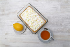 English banoffi dessert with bananas, caramel sauce and whipped cream Stock Photography