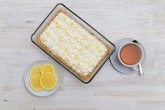 English banoffi dessert with bananas, caramel sauce and whipped cream Royalty Free Stock Photo