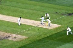 English batsman drives a ball in MCG Royalty Free Stock Image