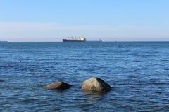 English Bay. Looking west across Vancouvers English Bay Stock Image