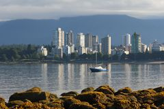 English Bay Low Tide, Vancouver Royalty Free Stock Photo