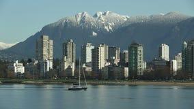English Bay Sailboat, Vancouver stock video