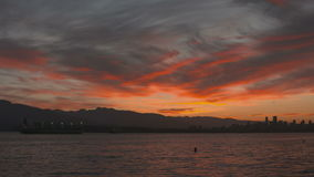 English Bay Slow Motion Sunrise, Vancouver stock video footage