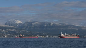 English Bay, Snowy Mountains, Vancouver Timelapse 4K stock video footage