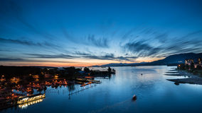 English bay Vancouver city in dusk,Vancouver,Canada Royalty Free Stock Photography