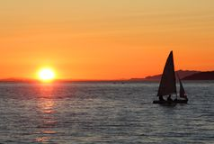 English Bay Vancouver Sunset Royalty Free Stock Images