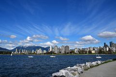 The English bay view with residence area. stock photo
