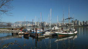 English Bay Winter Marina, Vancouver stock video