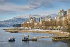 English Bay Winter, Vancouver Stock Photo