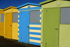 English Beach Huts Stock Images