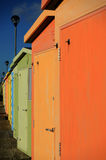 English Beach Huts. On the Sussex South Caost Of England Royalty Free Stock Photography