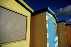 English Beach Huts Royalty Free Stock Image