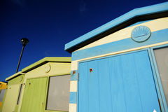Traditional English Beach Huts Royalty Free Stock Photography - Image: 26314667