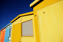 English Beach Huts Royalty Free Stock Image