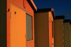 English Beach Huts. On the Sussex South Caost Of England Stock Photos
