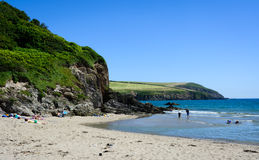 English beach - Mothecombe (2) Royalty Free Stock Images