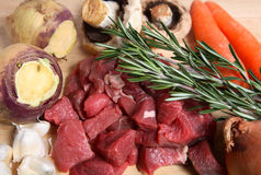 English beef vegetable stew ingredients Stock Photos