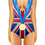 English body with medal Stock Photography