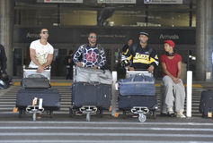 English boyband JLS is seen at LAX Stock Photography
