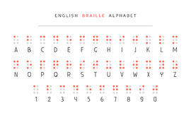 English braille alphabet Royalty Free Stock Photos