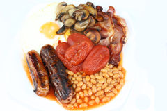 English Breakfast. Isolated on a white background Royalty Free Stock Images