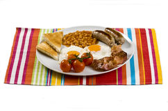 English Breakfast. Served on white plate royalty free stock photos