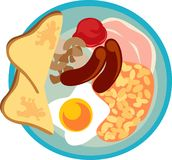 English breakfast. Vector illustration of English breakfast
