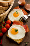 English Breakfast with Eggs and Bacon Stock Photos