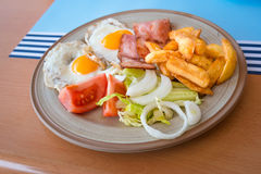 English breakfast eggs and bacon Stock Photography