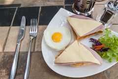 English breakfast with fried eggs Stock Images