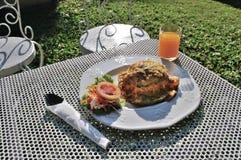 English Breakfast in garden Stock Photo