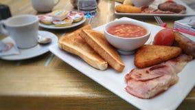 Full English breakfast at Gibraltar stock photography