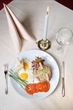 English breakfast on the plate Stock Images