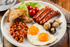 English breakfast with sausage Stock Image
