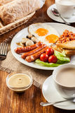 English breakfast with sausage Royalty Free Stock Image