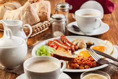 English breakfast with sausage Stock Photography