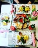 English breakfast. Sweetlab cupcakes torino Royalty Free Stock Photo