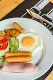 English Breakfast Thai Style. Royalty Free Stock Images
