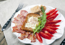 English breakfast with tomatoes Royalty Free Stock Photography