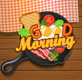 English breakfast. Vector. Royalty Free Stock Photography