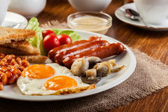 Free English Breakfast With Sausage Royalty Free Stock Photography - 48325997