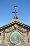 The English Bridge plaque, Shrewsbury. Stock Photos