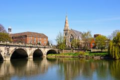 The English Bridge, Shrewsbury. Royalty Free Stock Photo
