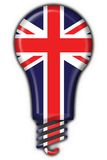 English britain button flag lamp shape. 3d made royalty free illustration