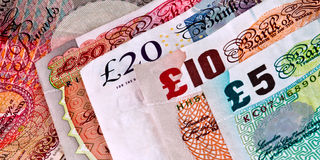English - British banknotes - Currency. All Paper banknotes in use in UK Royalty Free Stock Photography