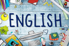English British England Language Education Concept.  Royalty Free Stock Photography